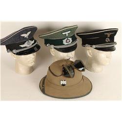 Lot of 4 Repro Nazi Hats