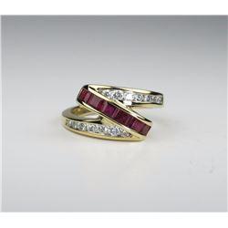 Dynamic Ruby & Diamond Ring