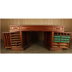 1876 Antique Wooton Rotary Desk