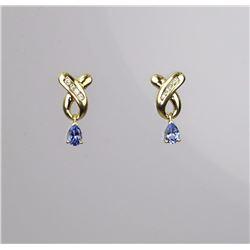 Irresistible Tanzanite & Diamond Earrings