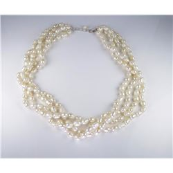 Beautiful Four Stranded Freshwater Pearls Necklace
