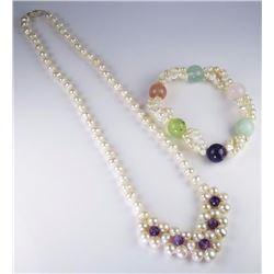 Nice Ladies Necklace & Bracelet Ensemble
