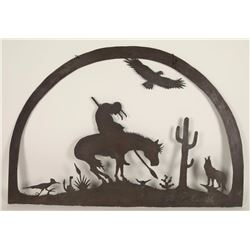 """Large Metal """"End of the Trail"""" Wall Hanging"""