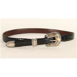 Vogt Silver & Gold Ranger Buckle with Belt