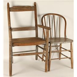 Lot of 2 Chairs from Fort Bidwell, CA