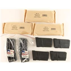 Lot of 9 AR15 Mags