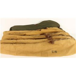 Lot of 12 Canvas Rifle Bags