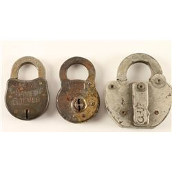 Lot of 3 Antique Locks