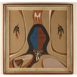 American Indian Sand Painting unsigned
