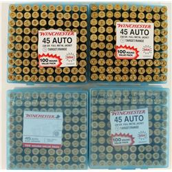 400 Rounds of Winchester FMJ .45 Auto Ammo