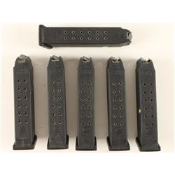(6) Glock Factory Mags