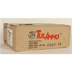 1,000 Rounds of Tula FMJ .223 Ammo