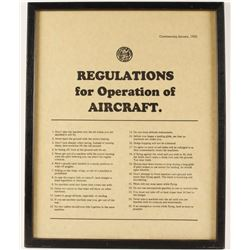 Regulations of Operations of an Aircraft Print