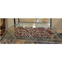 Lot of Clear Leaded Glass Arch Windows