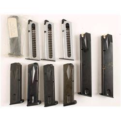 Lot of 7 Beretta M92 9mm Mags