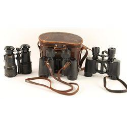 3 Pair Antique Binoculars