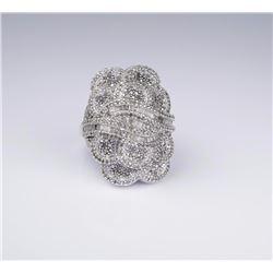 Dazzling Sterling Silver & Diamond Ring Set