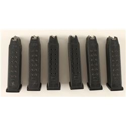 (6) Factory Glock 10mm 15rd Mags