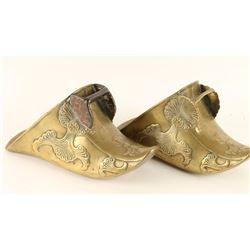 Pair of Brass Spanish Colonial Stirrups