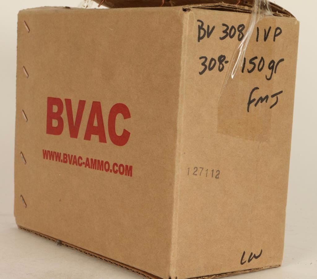 250 Rounds of BVAC FMJ  308 Ammo