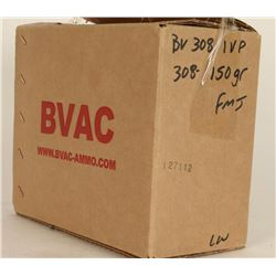 250 Rounds of BVAC FMJ .308 Ammo