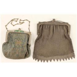 Collection of 2 Antique Mesh Purses