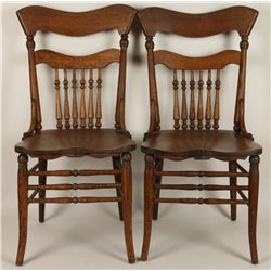 2 Wooden Dining Room Chairs