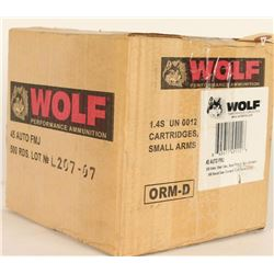 Wolf 45 Auto FMJ