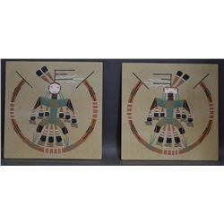 TWO NAVAJO SAND PAINTINGS (CHEE)