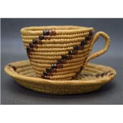 THOMPSON RIVER BASKETRY CUP AND SAUCER