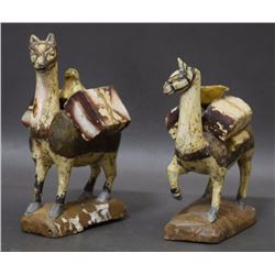 SOUTH AMERICAN WOODEN LAMAS