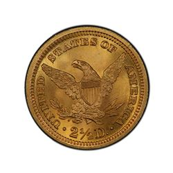 1898 $2.50 Liberty GOLD Quarter Eagle PCGS MS63