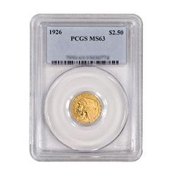 1926 $2.50 Liberty GOLD Quarter Eagle PCGS MS63