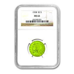 1928 $2.50 Liberty GOLD Quarter Eagle NGC MS64