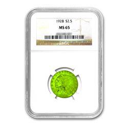1928 $2.50 Liberty GOLD Quarter Eagle NGC MS65