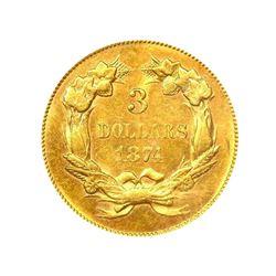 1874 $3  Gold Indian Princess PCGS MS61