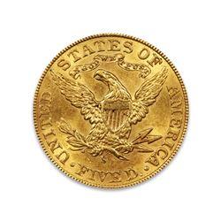 1906-S $5 Liberty Gold Half Eagle NGC MS62