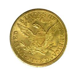 1907 $5 Liberty Gold Half Eagle PCGS MS64