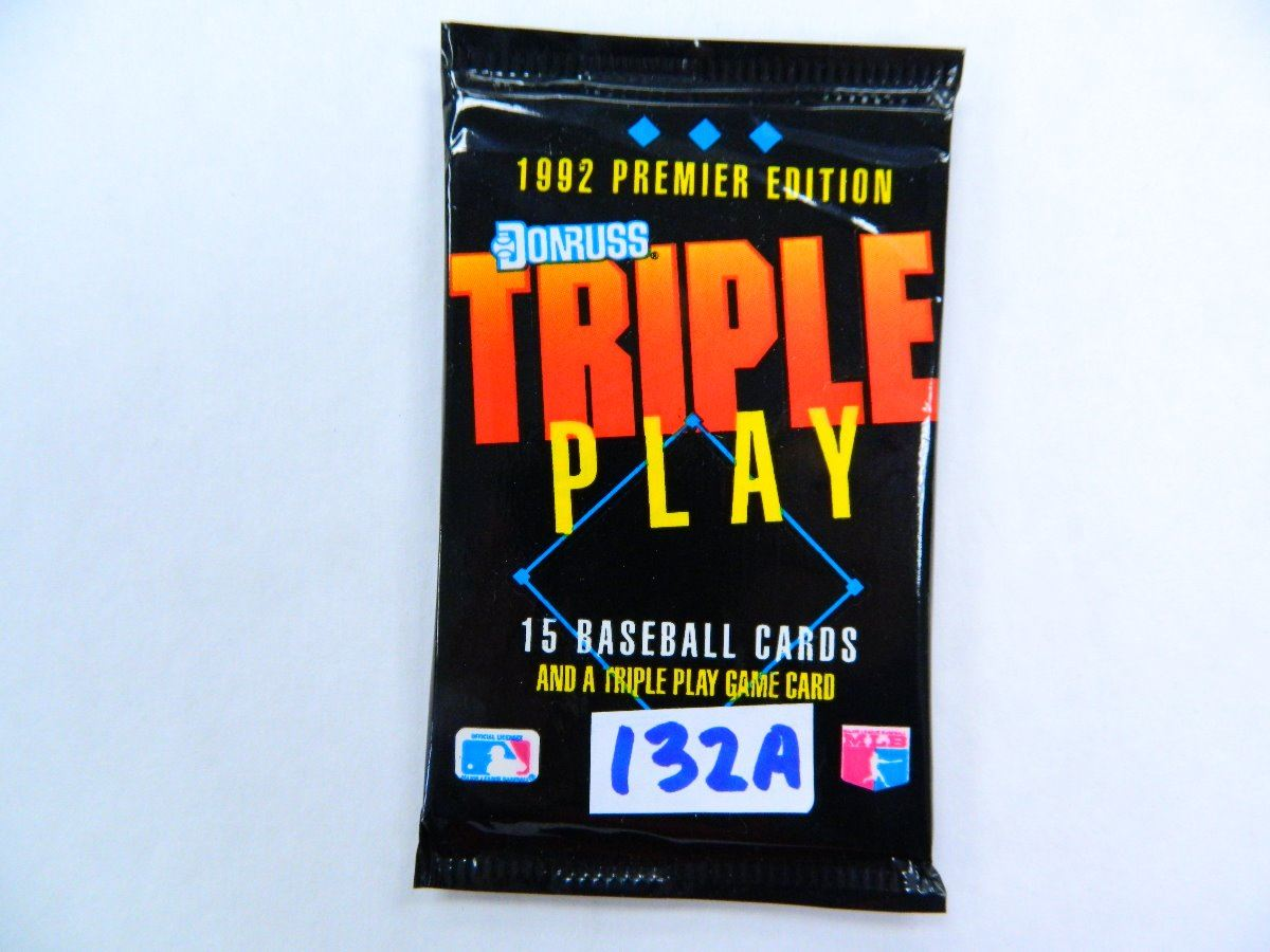 Six 6 Unopened Packs Of 1992 Donruss Triple Play Baseball Cards All One Money 15 Cards Per Pack