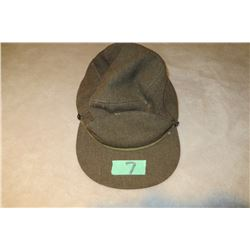 CDN army winter cap 1952 missing chin strap khaki