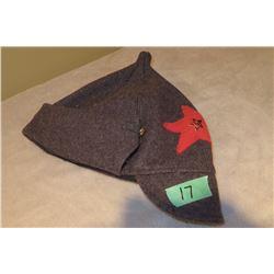 Soviet Budenoka wool winter hat c/w red star reproduction