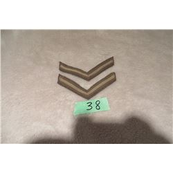 2 Lance Corporal chevron khaki
