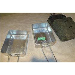Mess kit c/w case aluminum 1970's