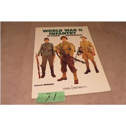 World War II infantry in colour photographs soft cover Laurent Mirouze (some loose pages)