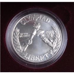 One US mint uncirculated 1988 Olympic silver  dollar  silver EST:$30-40
