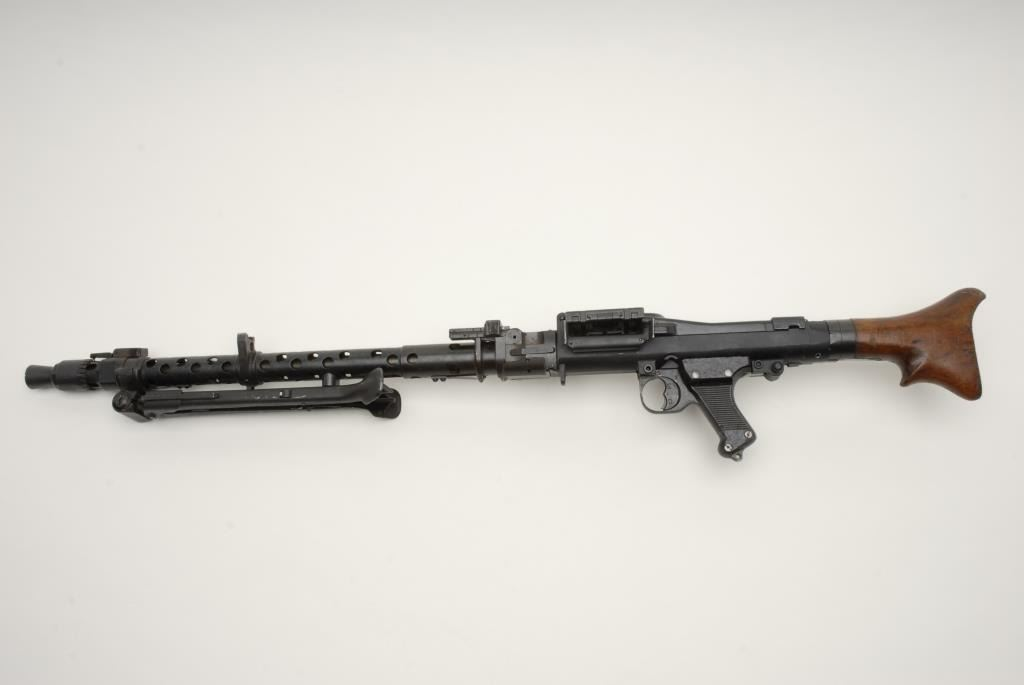 German MG 34 display model (Non-Firing) with authentic WWII Nazi