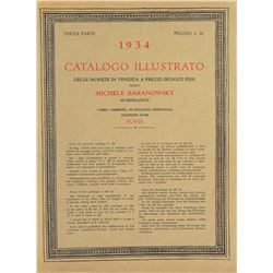 1934 Baranowsky Catalogue of Ancient and Italian Coins