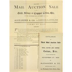 Two Rare Alexander & Co. Auction Sales