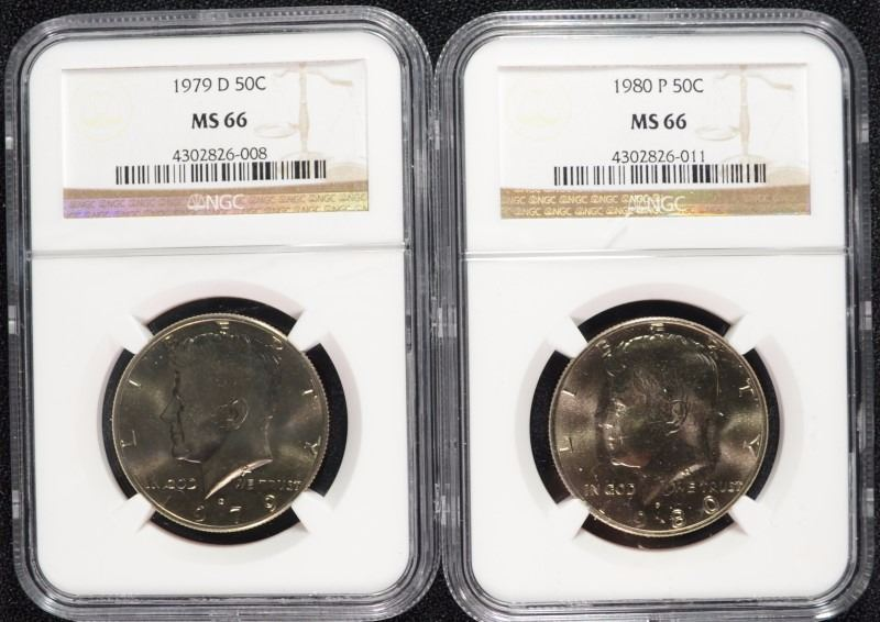 1980 P Kennedy Half Dollar NGC MS 66
