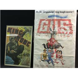 2 MOVIE POSTERS: 1933 KING KONG POSTER AND GUS THE MULE POSTER